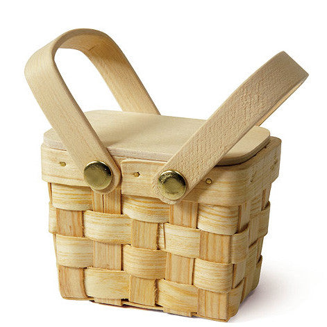 Mini Picnic Basket Wedding Party Favor (Pack of 6)