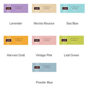 The different colors of the Rectangular Personalized Modern Medley Wedding Favor Tag.