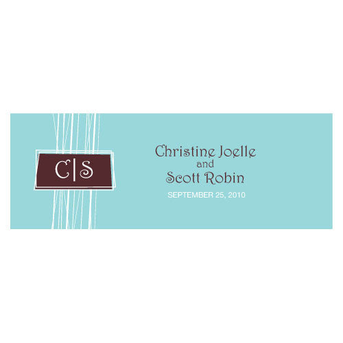 Rectangular Personalized Modern Medley Wedding Favor Tag