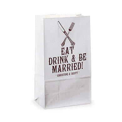 Eat Drink & Be Married Favor Bag