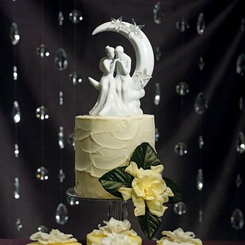 Moon and Stars Wedding Cake Top