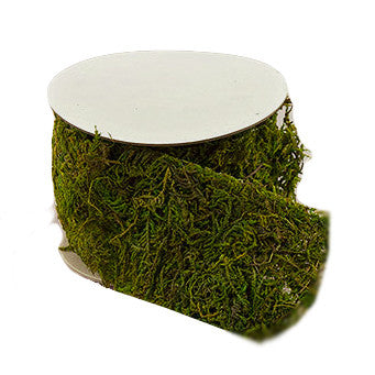 Roll of Faux Moss Crafter's Ribbon - Enchanted Forest Party Supplies