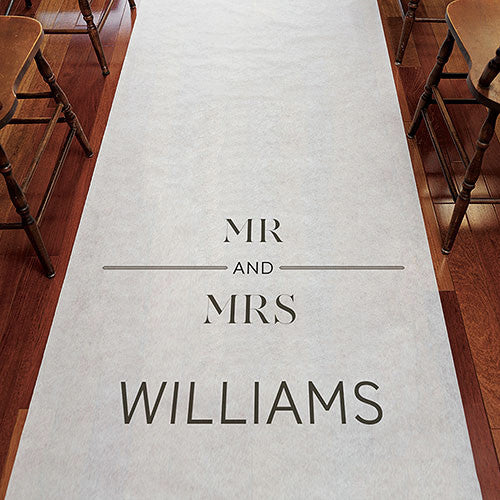 Mr and Mrs Personalized Wedding Aisle Runner Candy Cake Weddings Favors and Custom Gifts