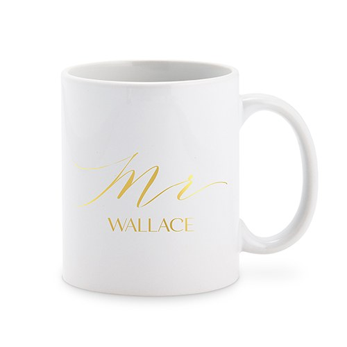 Personalized Mr Coffee Mug Cup Gold Print