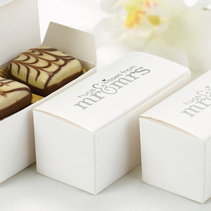 """Hugs and Kisses"" Wedding Party Favor Boxes"
