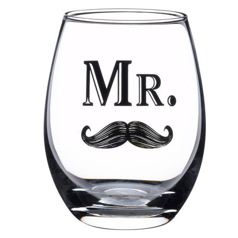 Mr. Drink Glass with Mustache Theme