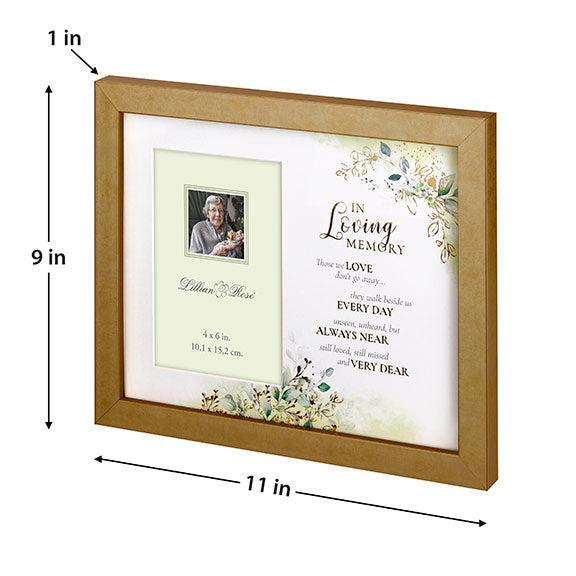 Botanical Themed Memorial Sympathy Frame
