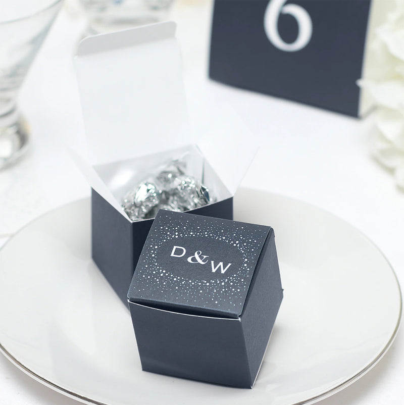 Personalized Sparkle Party Wedding Favor Box (Pack of 50)
