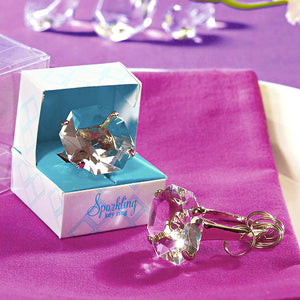 Diamond Key Chain in Wedding Gift Favor Box