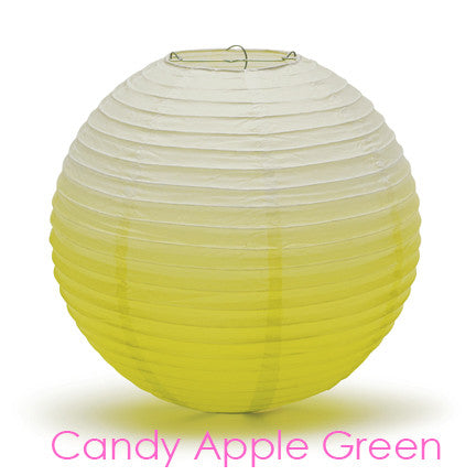 Ombre Round Paper Lantern - Candy Apple