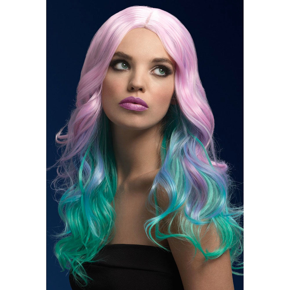 Colorful Ombre Hair Wig Long Woman's Rainbow Hair