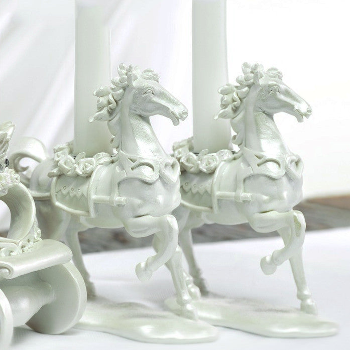 "A pair of horses from the ""Once Upon A Time"" Fairy Tale Candle Stand."