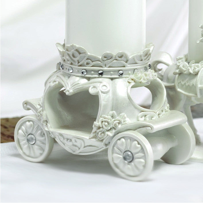 "The carriage portion of the ""Once Upon A Time"" Fairy Tale Candle Stand."