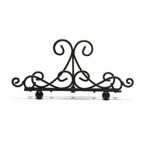 Black Matte Metal Ornamental Wire Stationery Holder