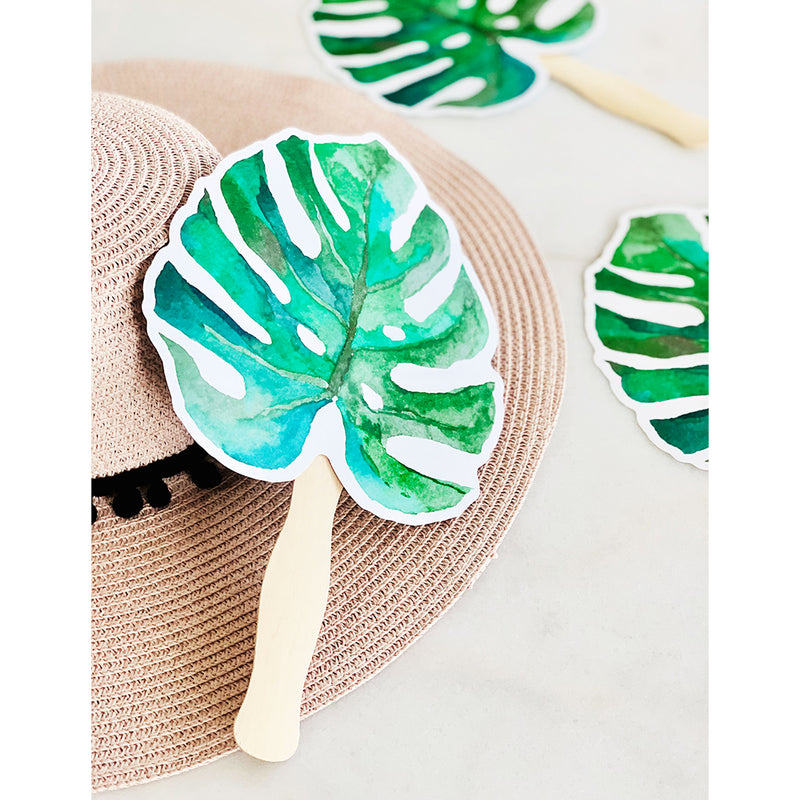 Palm Leaf Fans for Weddings and Events (Pack of 10)