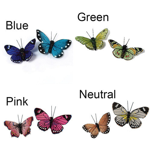 The 4 colors of the Butterfly Set - Wedding Decorations.