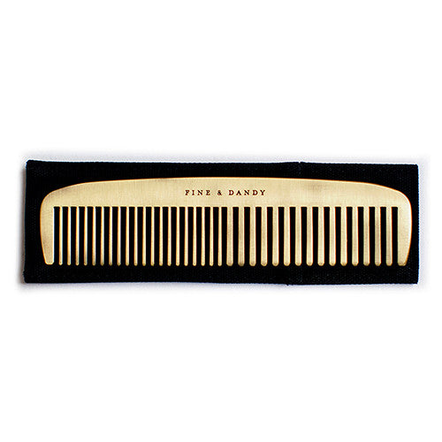 "Personalized ""Fine And Dandy"" Brass Hair Comb"