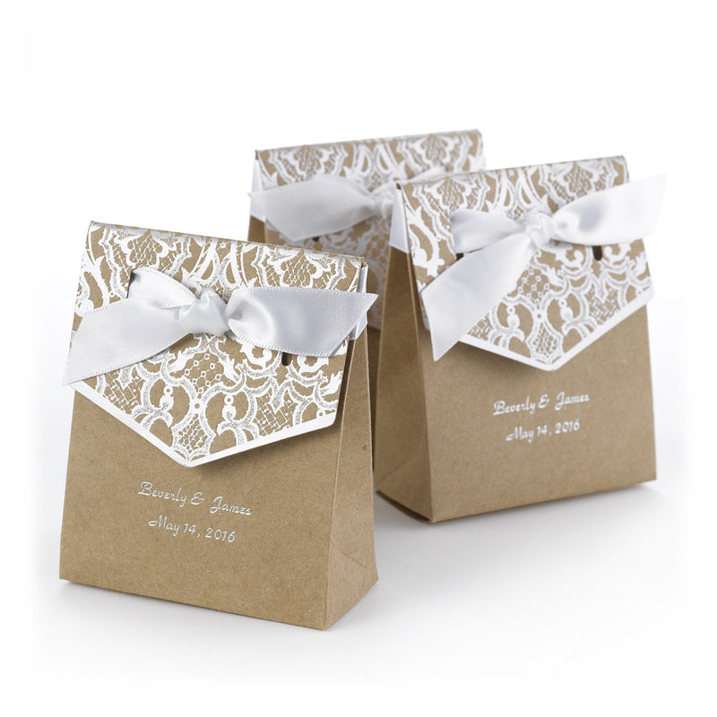 Personalized Vintage Tent Favor Boxes (Pack of 25)