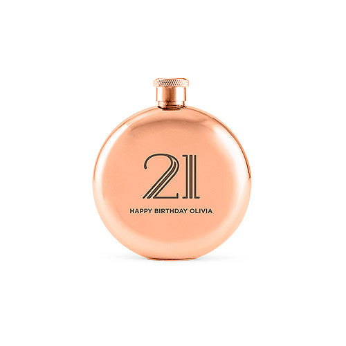 Personalized Rose Gold Flask