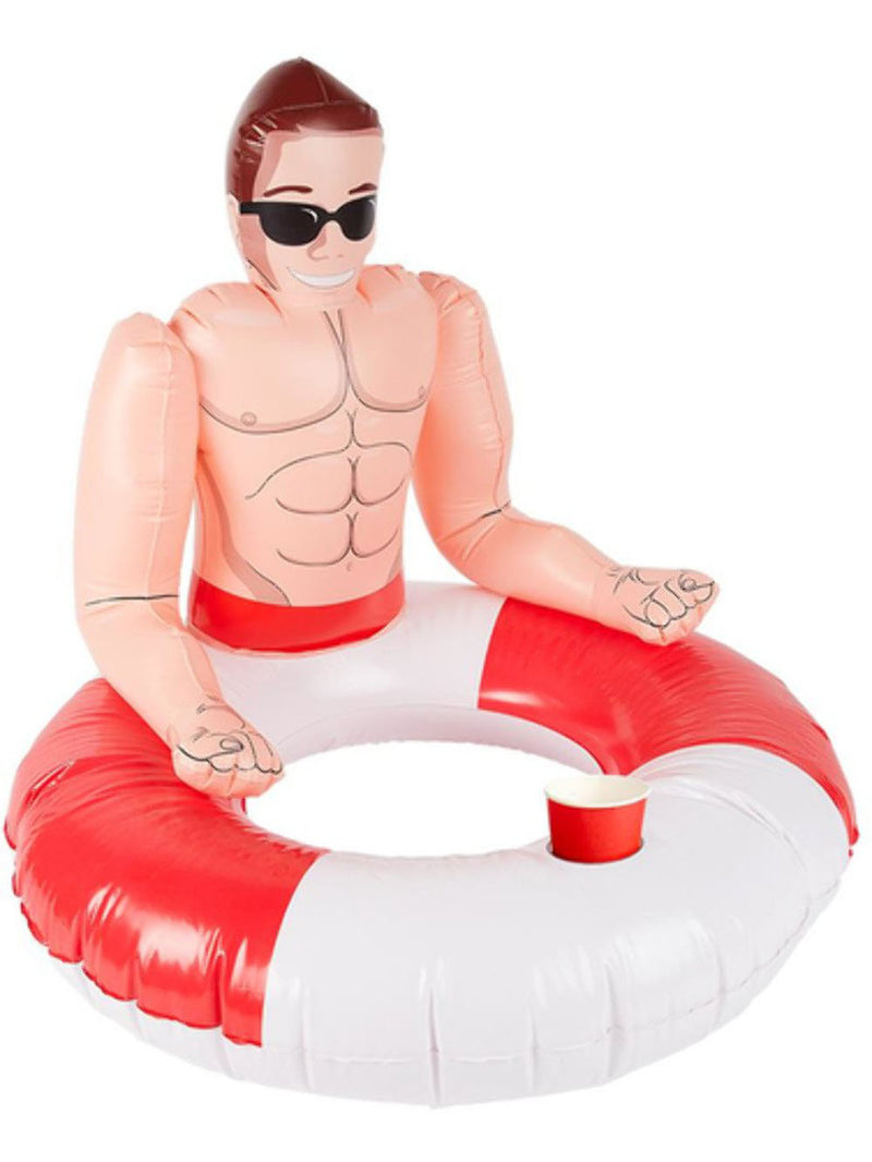 Inflatable Lifeguard Hunk Swim Ring Pool Floatie Party Gag Gift