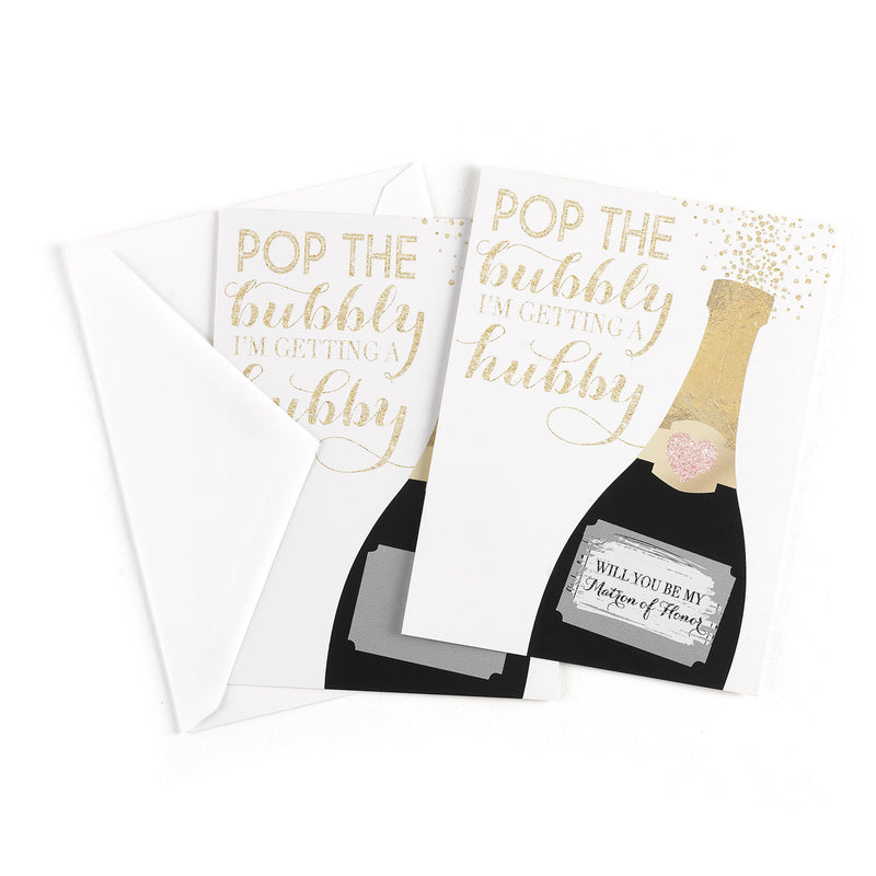 Bridal Shower Pop the Question Wedding Bridal Shower Scratch Off Card