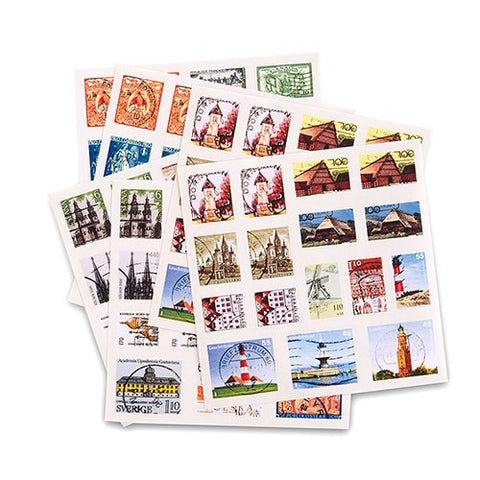 Destination Wedding Postage Style Favor Stickers