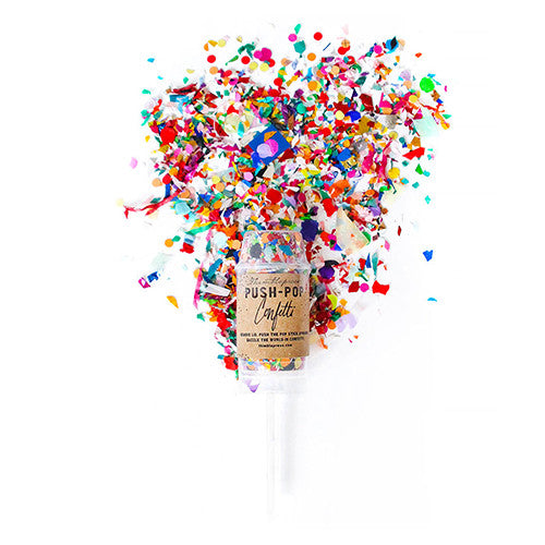 Push-Pop Wedding Party Confetti Favor - Multi-Color