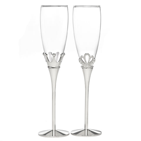 King and Queen Champagne Flute Set