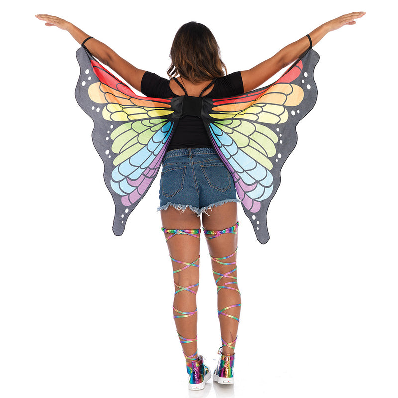 Rainbow Butterfly Party Festival Wings