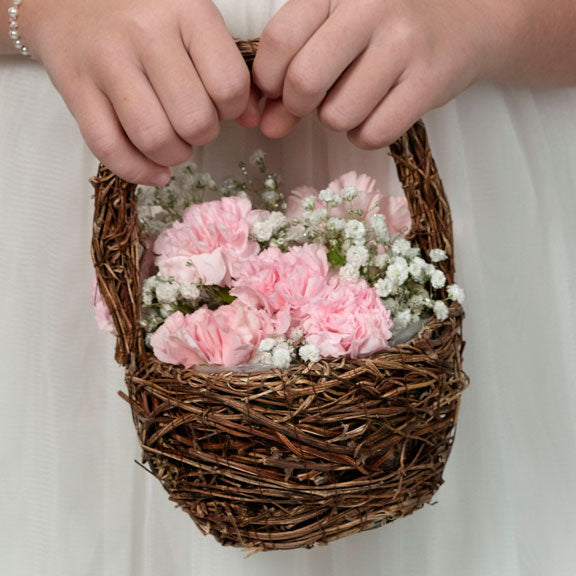 Rattan Flower Girl Basket