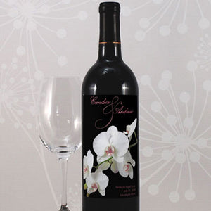 Personalized Orchid Glass Bottle Sticker Label (Pack of 8)