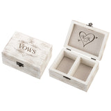 Heart and Arrow Rustic Wedding Ceremony Vows Box