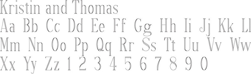Roman Lettering Example
