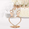 Rose Gold Personalized Sparkling Hearts Linked Flute Set