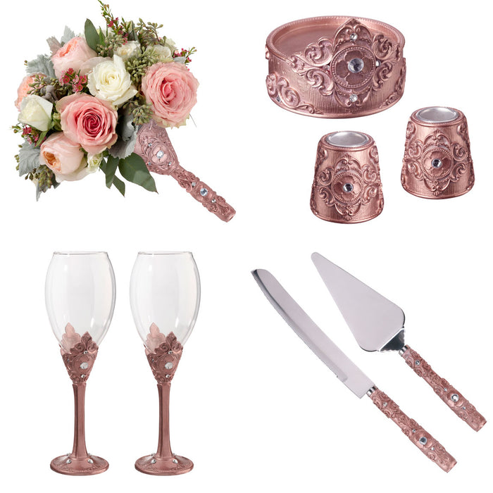 Rose Gold 8-Piece Wedding Ceremony Collection