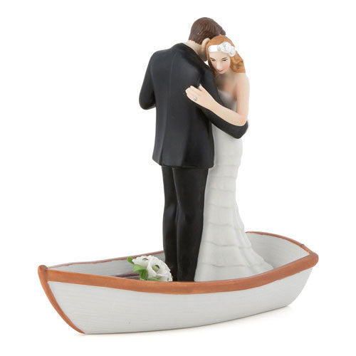 Just Married Love Boat Bride and Groom Wedding Cake Topper