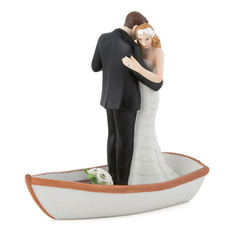 Just Married Love Boat Bride and Groom Cake Topper