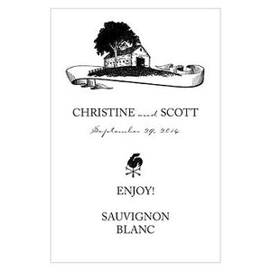 Personalized Country Farm House Sticker Bottle Label (Pack of 24)