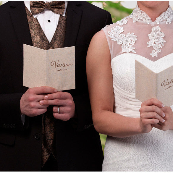 Rustic Personalized Wedding Ceremony Vows Books (Set of 2 )