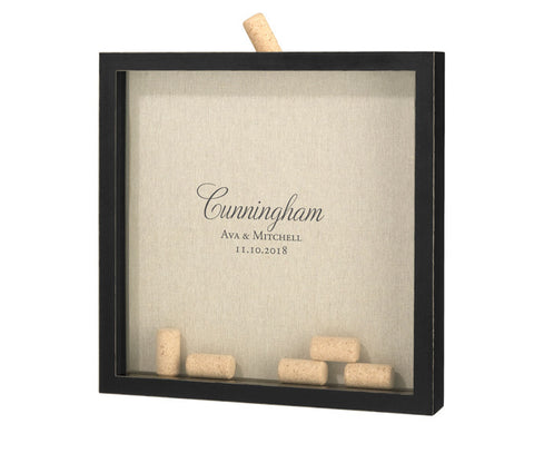 Script Wedding Guest Book Frame for Signing Corks