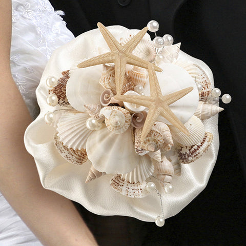 Seashell Wedding Bridal Bouquet