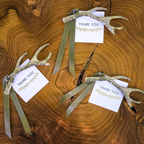 Antler Bottle Opener Wedding Party Favor (Pack of 6)