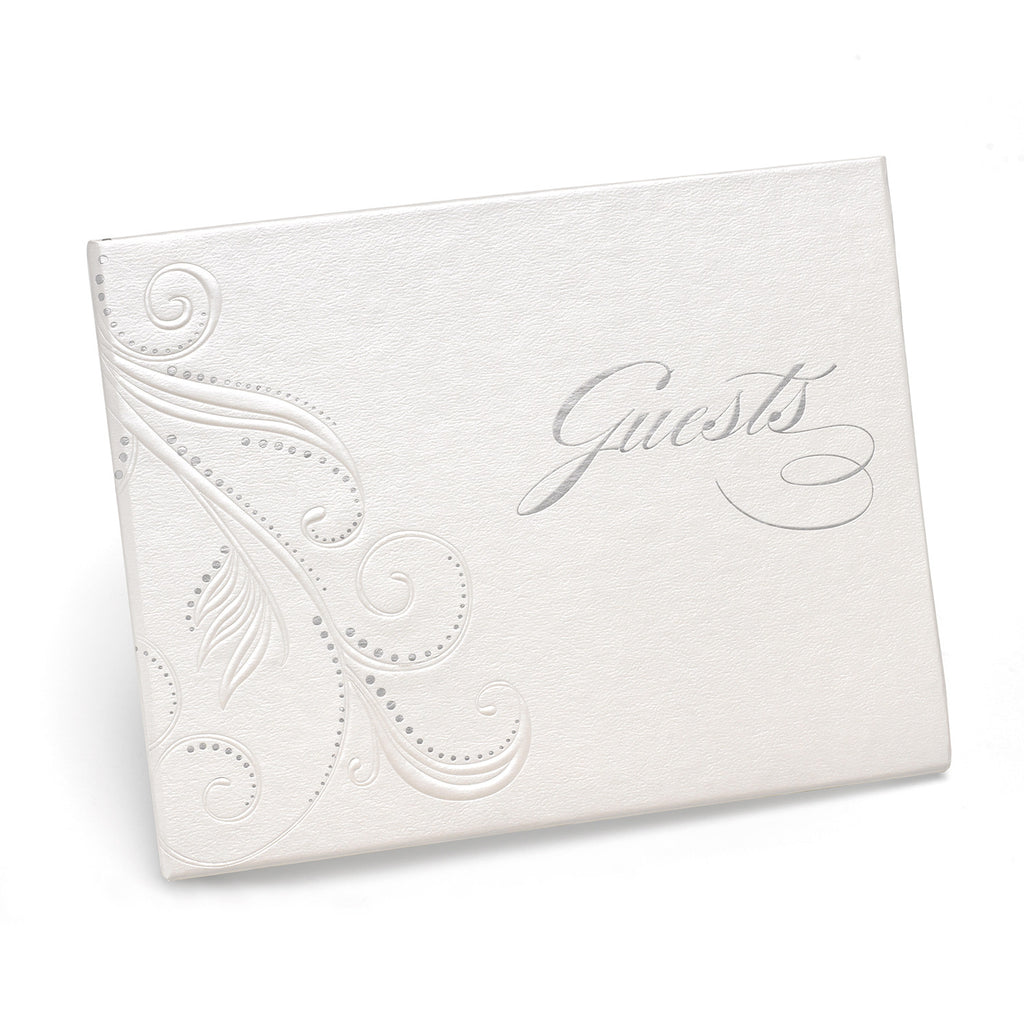 Swirl Dots Wedding Guest Book
