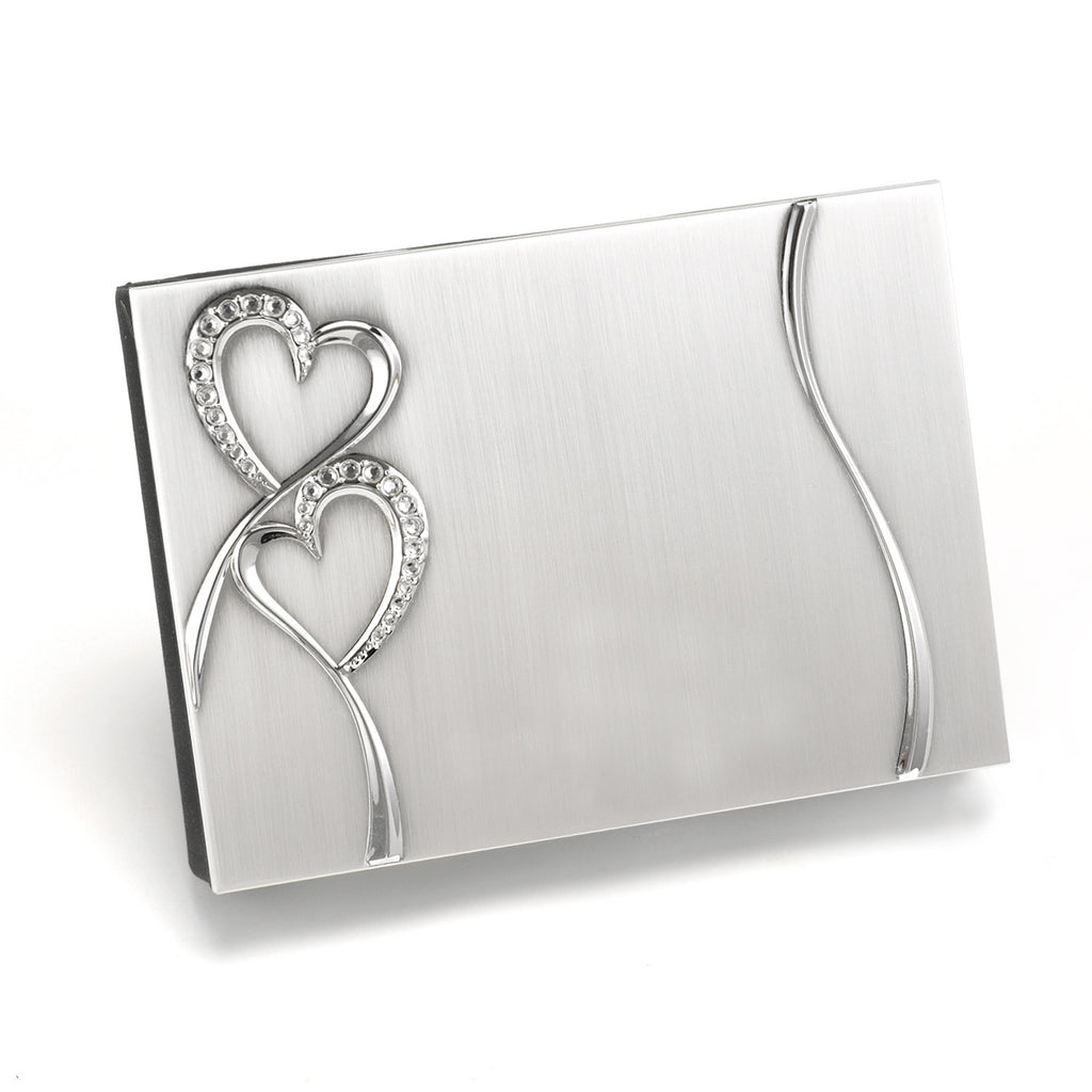 Diamond Hearts Wedding Guest Book