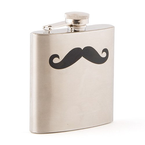 Personalized Mustache Stainless Steel Flask