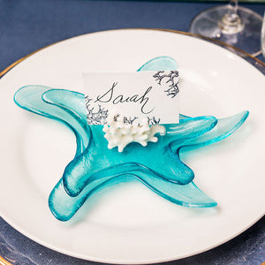 Blue Starfish Glass Plate