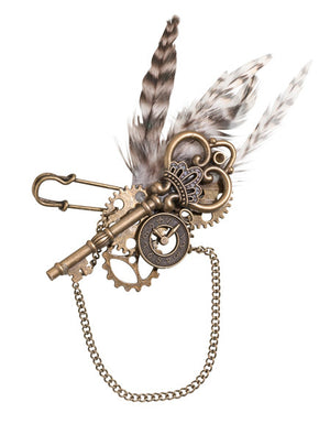 Steampunk Wedding Groom Groomsmen Boutonniere