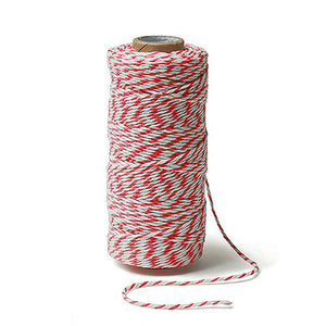 Red and White Striped Cotton Baker's Twine