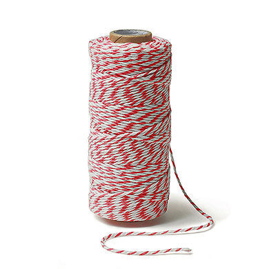 Red and White Baker's Twine