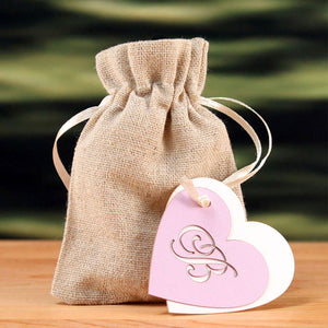 Mini Linen Drawstring Favor Bag (Pack of 12)
